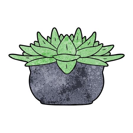 Cartoon vetplant. Stock Illustratie