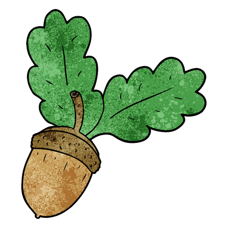 cartoon acorn Illusztráció