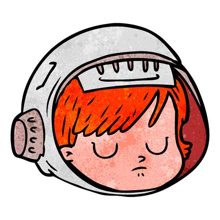 cartoon astronaut face Stock Illustratie
