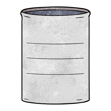 Cartoon oil drum