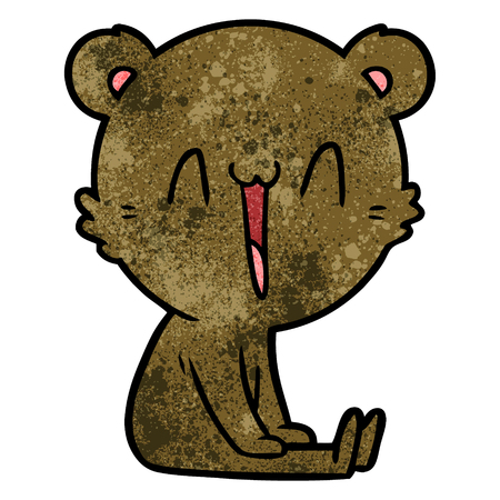 happy bear cartoon 스톡 콘텐츠 - 95018052