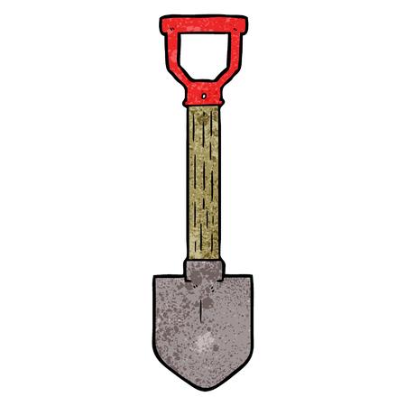 Cartoon shovel Vettoriali