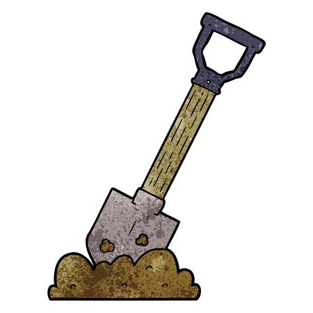Cartoon shovel 일러스트