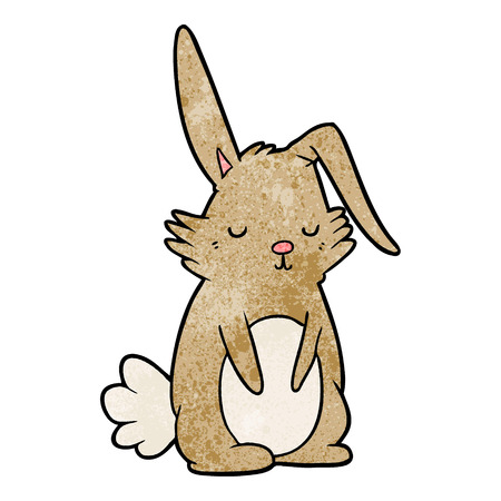 cartoon sleepy rabbit