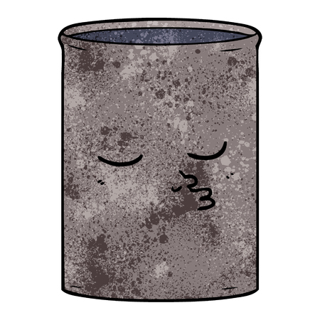 cartoon barrel of oil