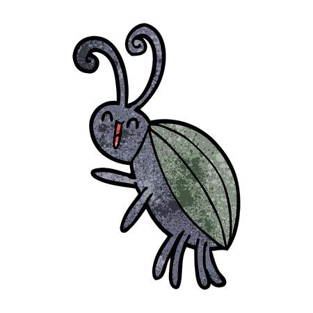 Cartoon happy insect