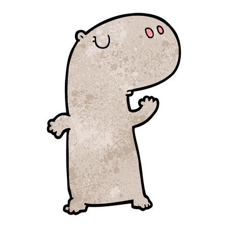 Cartoon hippopotame Banque d'images - 95019786