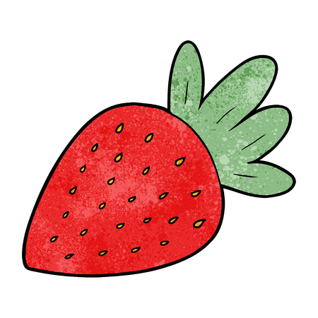 cartoon strawberry Vector illustration.