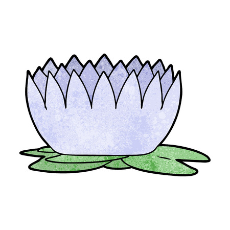 A cartoon waterlily on plain presentation.
