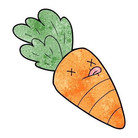 cartoon dead carrot