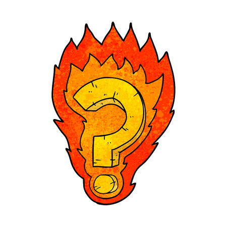 cartoon flaming question mark Stock fotó - 95134729