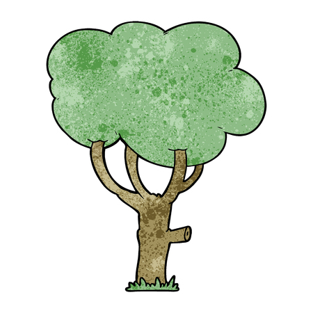 A cartoon tree on plain presentation.