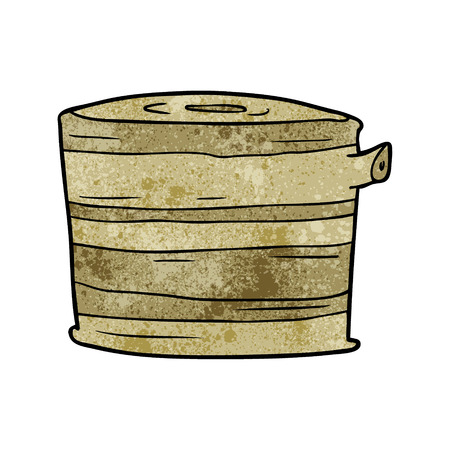 漫画の木の切り株ベクターイラスト。