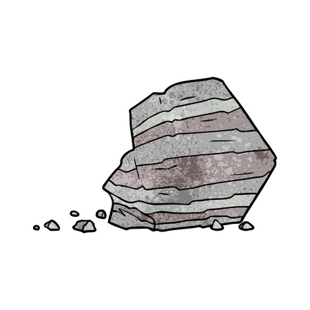 cartoon large rock Vector illustration. Illustration