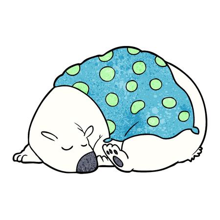 cartoon polar bear sleeping