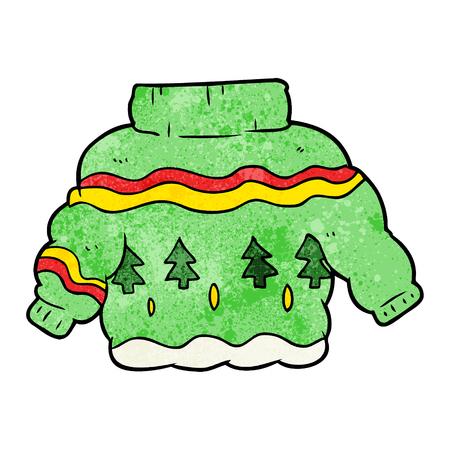 Maglione di Natale imbarazzante dei cartoni animati Archivio Fotografico - 95096287