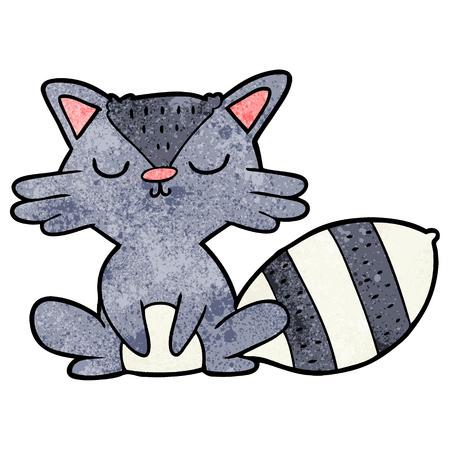 cute cartoon raccoon Illustration