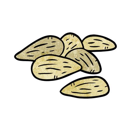 cartoon almonds Illustration