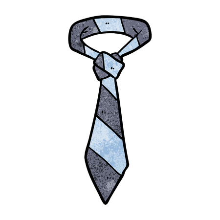 cartoon striped office tie