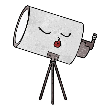 cartoon telescope with face Stock Vector - 95096789