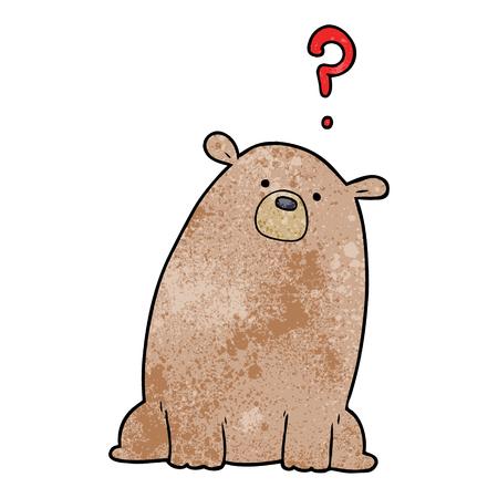 호기심 곰 만화 일러스트