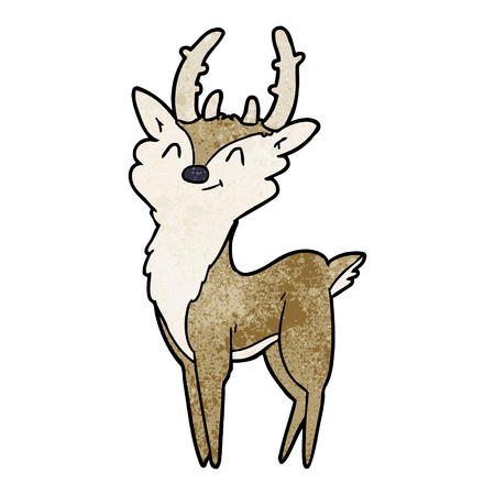 cartoon happy stag