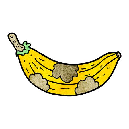 cartoon old banana going brown