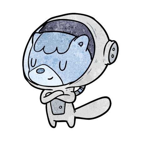 cartoon cat astronaut animals Stock Vector - 95134797