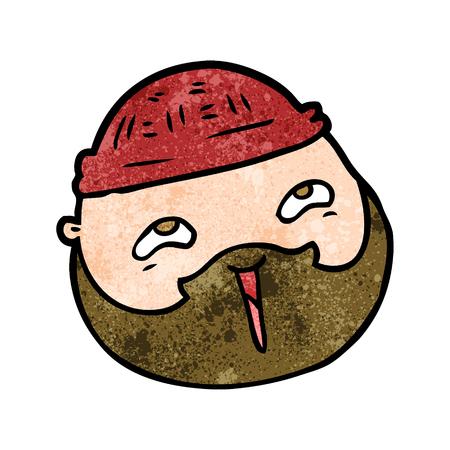 cartoon male face with beard