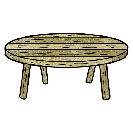 cartoon wooden table Иллюстрация