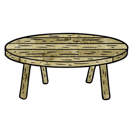 cartoon wooden table  イラスト・ベクター素材