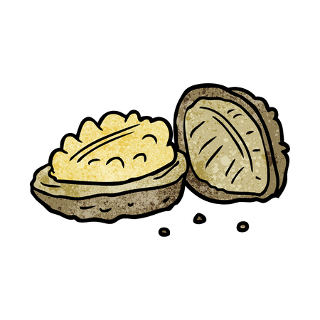 cartoon walnuts Imagens - 95134846