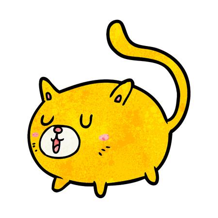 cartoon happy cat Stock Vector - 95134845
