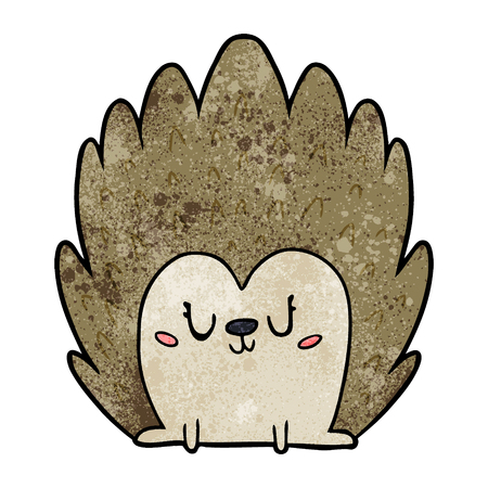 cute cartoon hedgehog