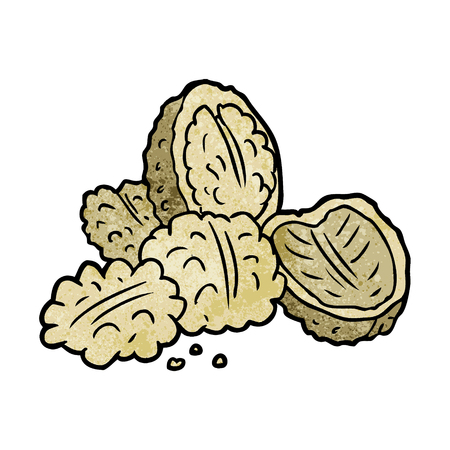 cartoon walnuts illustration Imagens - 95096819