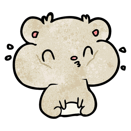 cartoon hamster with full cheek pouches