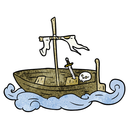 cartoon old shipwrecked boat Standard-Bild - 95134870