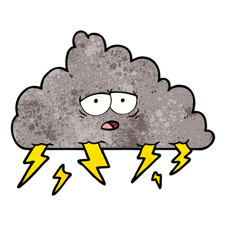 cartoon storm cloud