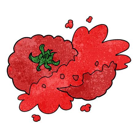 Cartoon zerquetschte Tomate Standard-Bild - 95096834
