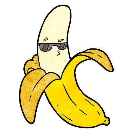 cartoon banana with glasses Vektorové ilustrace