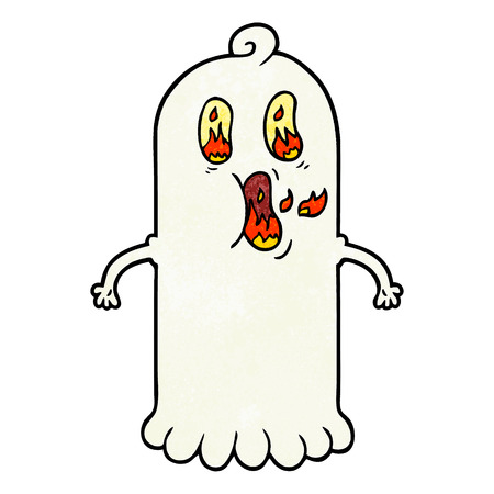 cartoon ghost with flaming eyes Stock fotó - 95134900