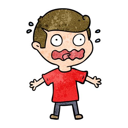 漫画の男は完全にストレスを感じている