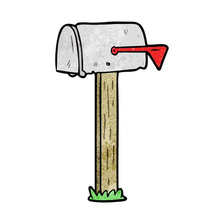 cartoon mailbox Vettoriali