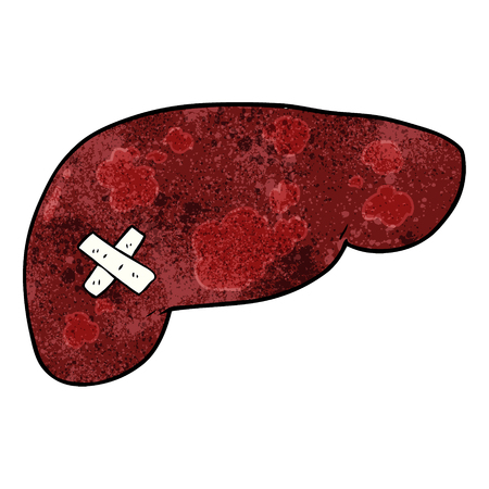 cartoon unhealthy liver