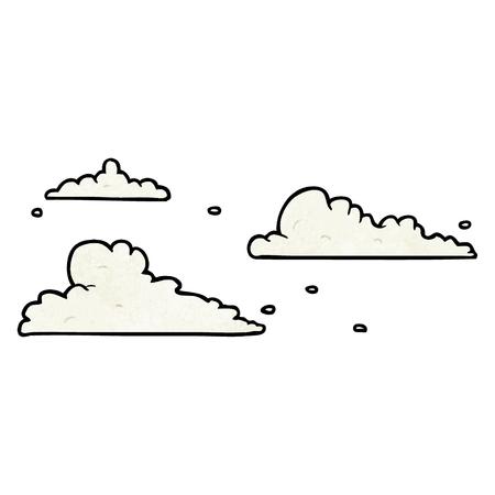 cartoon clouds drifting by Иллюстрация