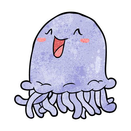 happy cartoon jellyfish