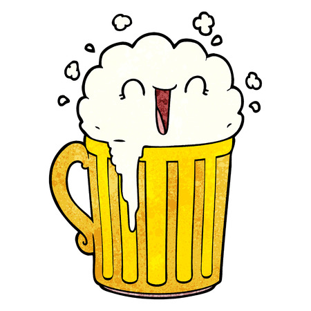 happy cartoon mug of beer Banco de Imagens - 95134986
