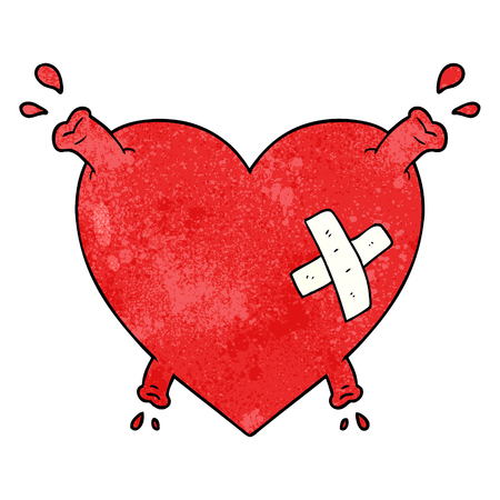 cartoon heart squirting blood