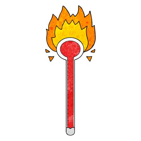 cartoon thermometer Illusztráció