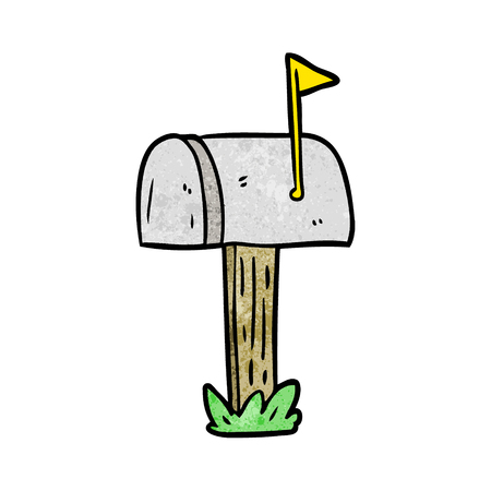 cartoon mailbox Ilustrace